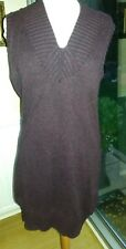 Planet Long Purple &Black Marle Knitted tunic / Dress Size L