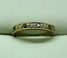 Very Nice 9 Carat Gold Blue Topaz And Diamond Half Eternity Ring Size J.1/2
