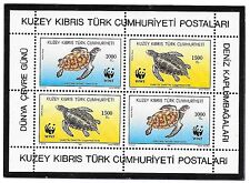 TURKISH CYPRUS SC 328A NH issue of 1992 - WWF - TURTLES