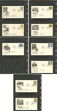 UN-New York #114-122, 1963 Annual Set, ArtCraft FDC Addressed