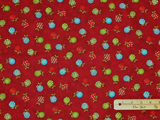 Away in a Manger RED Nativity Religious Christmas Cotton Fabric 18