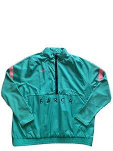 Nike FC Barcelona 2020-2021 Men's Size XXL Green Pink Jacket