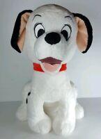 "DISNEY STORE 101 DALMATIANS 14"" Plush DOG Stuffed RED COLLAR Large Soft Stuffed"