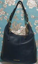 Michael Kors Bedford Soft Navy Textured Leather Medium Shoulder Hobo Bag