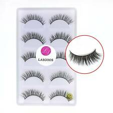 Top Quality 5 Pairs Non-Magnetic Hand-made Real Mink False Eyelash Eye Salon#001