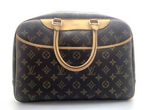 Authentic LOUIS VUITTON Deauville Monogram Bowling Vanity M47270 Bag 19016323KT