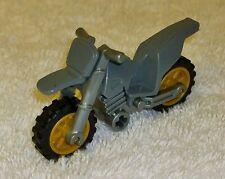 Lego Dirt Bike Dark Stone Grey Faring Silver Frame Gold Rim Motorbike Motorcross
