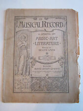 1892 THE MUSICAL RECORD - A JOURNAL OF MUSIC, ART & LITERATURE BY SMITH - RH-6