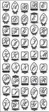 Anthology JACQUELINE ALPHABET (45) Chipboard Stickers scrapbooking