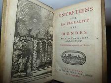 Fontenelle : Entretiens Pluralitè des Mondes - Mortier 1701 Alieni Fantascienza