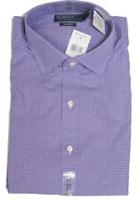Polo Ralph Lauren Mens Regent Custom Slim Spread Purple Blue Sport Dress Shirt