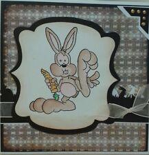 Unmounted rubber stamp Bigfoot Bunny Rabbit