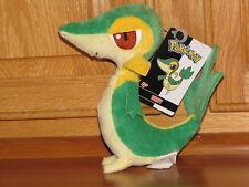 Snivy Pokemon Black & White Wave 1 B&W Mini Plush Jakks Snake Serpent Lizard-NEW
