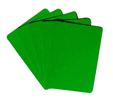 Set of 5 Casino Grade 100% Plastic Poker Size Cut Cards - Rounded Corners  Green