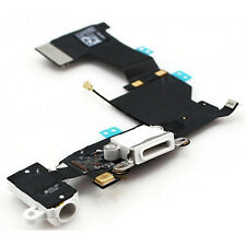 Genuine iPhone 5S White Dock Connector USB Headphone Jack & Mic Flex ORIGINAL