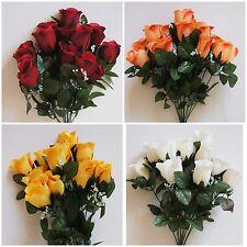 Rosen Strauß x 12 Künstliche Blumenstrauß Tischdeko Kunstblumen Rose Blume Q761