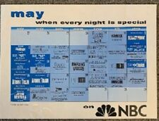 NBC TV Schedule Poster 1999