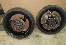 08-16 Suzuki Hayabusa GSXR 1300 Front Rear Wheels Rims Set Rotors Hub Sprocket