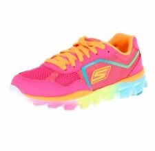 New Skechers Go Run Ride Girls Trainers Neon Pink Multi Size  UK13.5 EUR33 US1.5