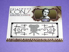 2008 Celebrity Cuts DOROTHY LAMOUR Icons Worn Item/100 Road To - JUNGLE PRINCESS