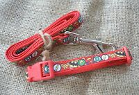 Extra Small & Small Dog Collar and Lead Set by Floral Pooch for Toy Dogs