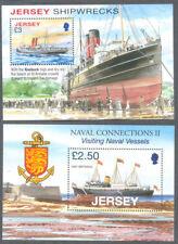 Jersey-Ships -Vessels-Shipwrecks- 2 min sheets mnh