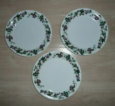 "Mainstays Dinner Plates 10"" Grape Design Set of 3 Microwave Dishwasher Oven Safe"