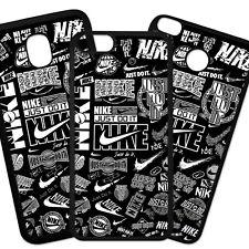 Carcasa Funda De Telefono Móviles TPU Diseño Collage Negro Blanco Deporte Marca