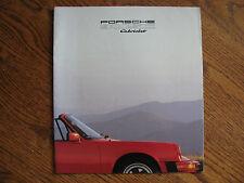 Porsche 911 sc cabriolet original factory brochure