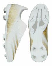Adidas SIZE 5 - X GHOSTED.3 FG Soccer Cleats Shoes White Gold EG8210 Youth NEW