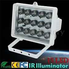 328ft 15LED 12V Night Vision Lamp IR Illuminator Infrared Light Security Camera