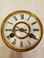 Friedrich Mauth Schwenningen Antique German Clock Movement Porcelain Face Parts