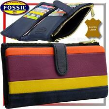 FOSSIL orange/lila/gelb/ocean-blue, Damen-Geldbörse/Geldbeutel/Portemonnaie NEU