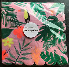 20 x Luxury Pink Tropical Paper Napkins Tropical Bird Toucan Hawaiian Party
