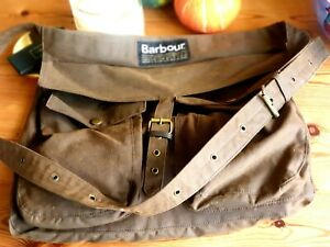 Barbour Waxed Cotton Olive Terras Bag, messenger bag, Stunning