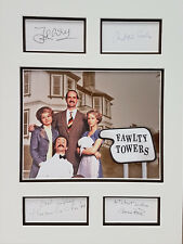 FAWLTY TOWERS Signed 17X13 Photo Display CLEESE SCALES BOOTH SACHS COA