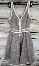 Vintage 1970's Gunne Sax Prairie Dress Size 9 Womens Brown Made in USA Western
