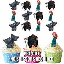 Precut Principessa Disney Merida Brave 12 Decorazioni per Cupcake Commestibili Decorazioni Party