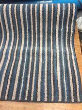 84 x 30 inch (213 x 76 cm)  BLUE STRIPE RUG HARD WEARING BLEACH CLEANABLE #7059