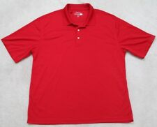 Jack Nickalous Golf Polo Shirt Short Sleeve XXL Red Solid Men's Polyester Man