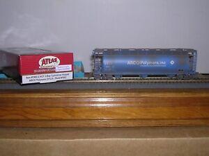 ATLAS #1982-2  Arco Polymers  ACF 3-Bay Cov.Hopper Car #1003 Weathered H.O. 1/87
