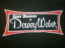 DEWEY WEBER SURFBOARDS CLASSIC SHORT SLEEVE LONG BOARD BEACH FIN BLACK T- SHIRT