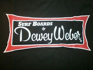 DEWEY WEBER SURFBOARDS CLASSIC SHORT SLEEVE LONG BOARD BEACH FIN BLACK T- SHIRT
