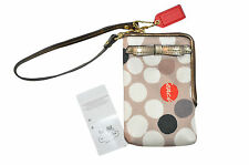 COACH POPPY NORTH/SOUTH UNIVERSAL CASE IN WATERCOLOR DOT PRINT FABRIC