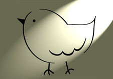 SHABBY Chic Stencil semplice DIVERTENTE BIRD RUSTIC MYLAR stile vintage A4 297x210mm Wall