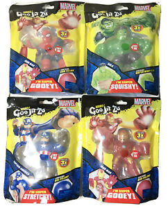 Heroes of Goo Jit Zu Marvel Hulk Spider-Man Captain America Iron Man Rare Error