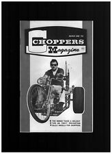 ROTH CHOPPERS MAGAZINE MARCH 1968 KNUCKLEHEADS PANHEADS TRIKES LONG BEACH SHOW