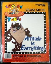 LOONEY TUNES TASMANIAN DEVIL COUNTED CROSS STITCH KIT ATTITUDE IS EVERYTHING
