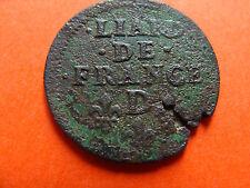 Monnaies  Louis XIV, Liard de France au buste JUVENIL  atelier D
