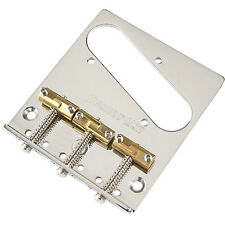 Hipshot 3 hole fender telecaster chrome bridge with compensated brass saddles